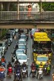 运输交通在市中心 图库摄影