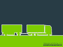 运输公司广告背景 免版税库存图片