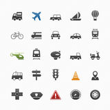 运输和交通标志象集合 库存图片