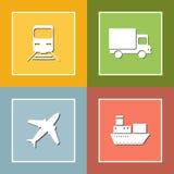 运输和交付象舱内甲板集合 免版税库存照片