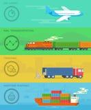 运输和后勤例证概念 库存图片