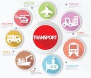 运输和后勤学概念,五颜六色的版本 库存照片