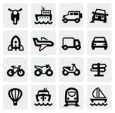 运输图标集 免版税图库摄影