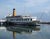 运输在日内瓦湖,瑞士 库存照片