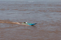 运输在泰国的北部的mae khong河 图库摄影
