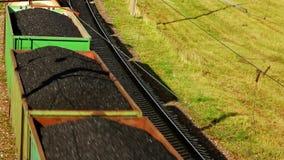 运输在铁路的工业火车石油产品 货物火车割 影视素材