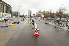 运输地区-自行车立场 免版税库存图片