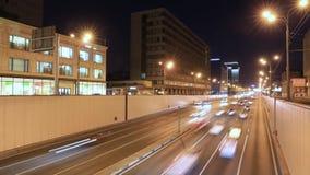 运输大都会、交通和模糊的光Timelapse  股票录像