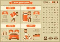 运输平的设计Infographic模板 免版税图库摄影