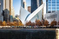 运输插孔Oculus -纽约,美国 库存照片