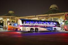 运输政府公司富豪集团公共汽车  15米公共汽车路线 免版税库存图片