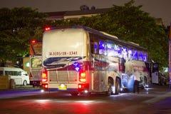 运输政府公司富豪集团公共汽车  15米公共汽车路线 免版税图库摄影
