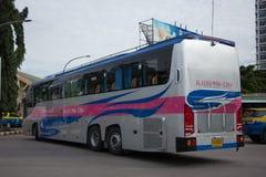 运输政府公司富豪集团公共汽车  15米公共汽车路线 免版税库存照片