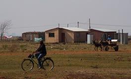 运输方式在农村南非 库存照片