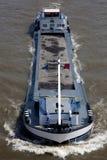 运输沙子的驳船 免版税库存照片
