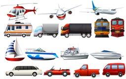 运输的不同的类型 皇族释放例证