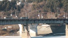 运输移动的大桥梁 影视素材