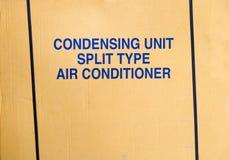 运输空调器的纸板 库存照片