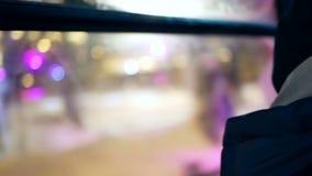 运输窗口晚上城市 影视素材