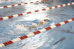 运输路线的游泳者 免版税图库摄影