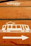 运输路线符号电车 免版税图库摄影