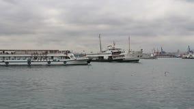 运输,海,伊斯坦布尔城市,土耳其12月2016年, 影视素材
