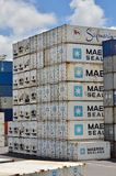 运输货柜 免版税库存照片