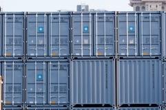 运输货柜 库存图片