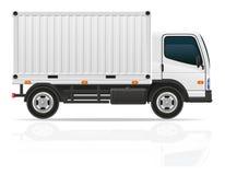 运输货物传染媒介例证的小卡车 免版税库存照片