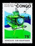 运输PC-1202,深海潜水艇serie,大约1993年 免版税库存图片