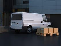 运输van truck 皇族释放例证