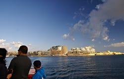 运送在马耳他海岛上的运输  图库摄影