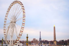 巴黎运送轮子 免版税库存照片