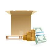 运费概念例证设计 库存例证
