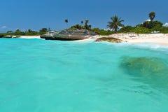 运货马车的车夫del墨西哥playa风景 免版税库存图片