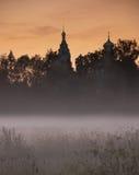 近教会看法莫斯科俄罗斯 免版税库存照片
