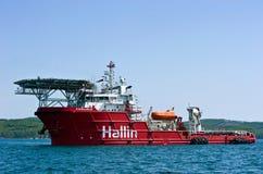 近海供应船卡来尔 不冻港海湾 东部(日本)海 01 06 2012年 库存图片