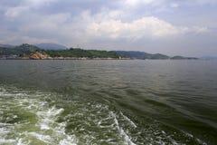 近海处zhangzhou城市 免版税库存照片