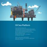 近海海石油平台小册子设计 免版税库存图片