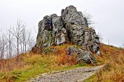 近石头由城堡,斯洛伐克 图库摄影