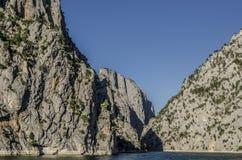 近Sahinkaya峡谷到Vezirkopru区,萨姆松市,土耳其 免版税库存图片