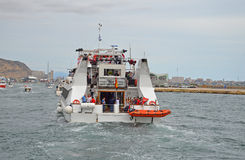 返回到港口的轮渡 图库摄影