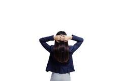 返回妇女年轻人 免版税库存照片