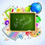返回学校 免版税库存图片