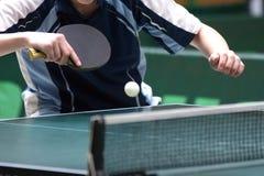 返回的乒乓球 图库摄影