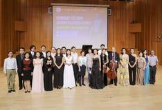 返回的外国学生音乐天分小组照片 库存图片