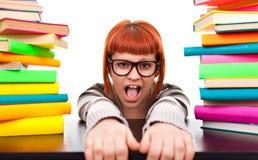 返回穿上去学校女小学生t 免版税库存照片