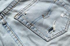 返回老牛仔裤 库存图片
