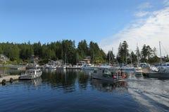 返回螃蟹的小船,隆德, BC 免版税库存图片