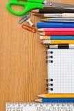 返回被检查的概念笔记本学校 库存图片